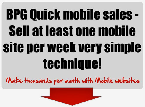 Quick Mobile Site Sales