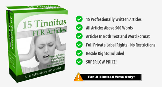 Tinnitus PLR Articles