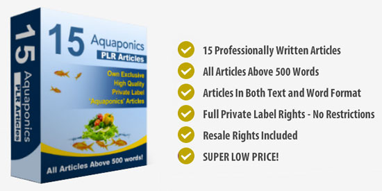 Aquaponics PLR Articles