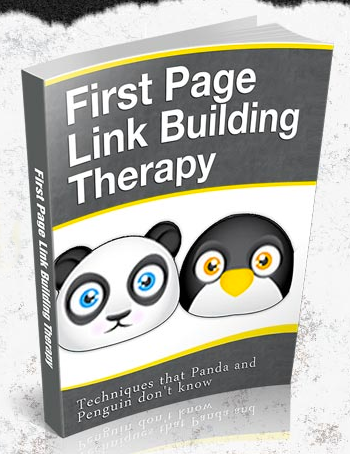 First Page Link Building Therapy