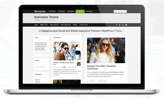 Somozine WP Theme