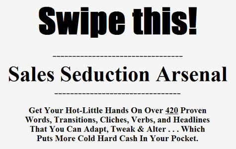 Sales Seduction Arsenal