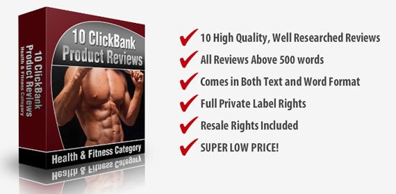 10 Clickbank Health & Fitness Reviews