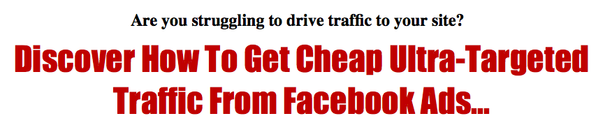 """How To Get Traffic From Facebook"""