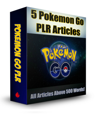 Pokemon Go PLR Articles