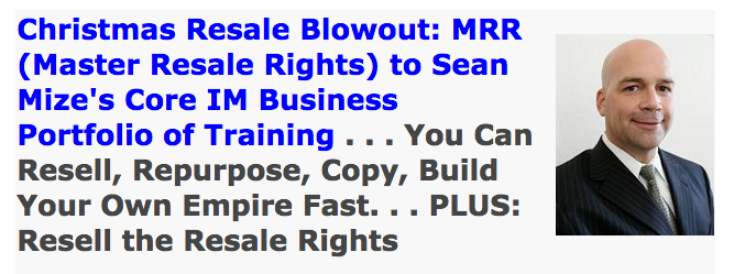 Christmas Master Resale Rights Blowout